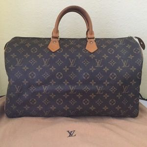 Louis Vuitton Monogram Speedy 40 Satchel